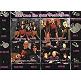 Stamps for Collectors - Star trek the next generation Data Picard and Riker MNH Miniature Sheet / Chad / 2015