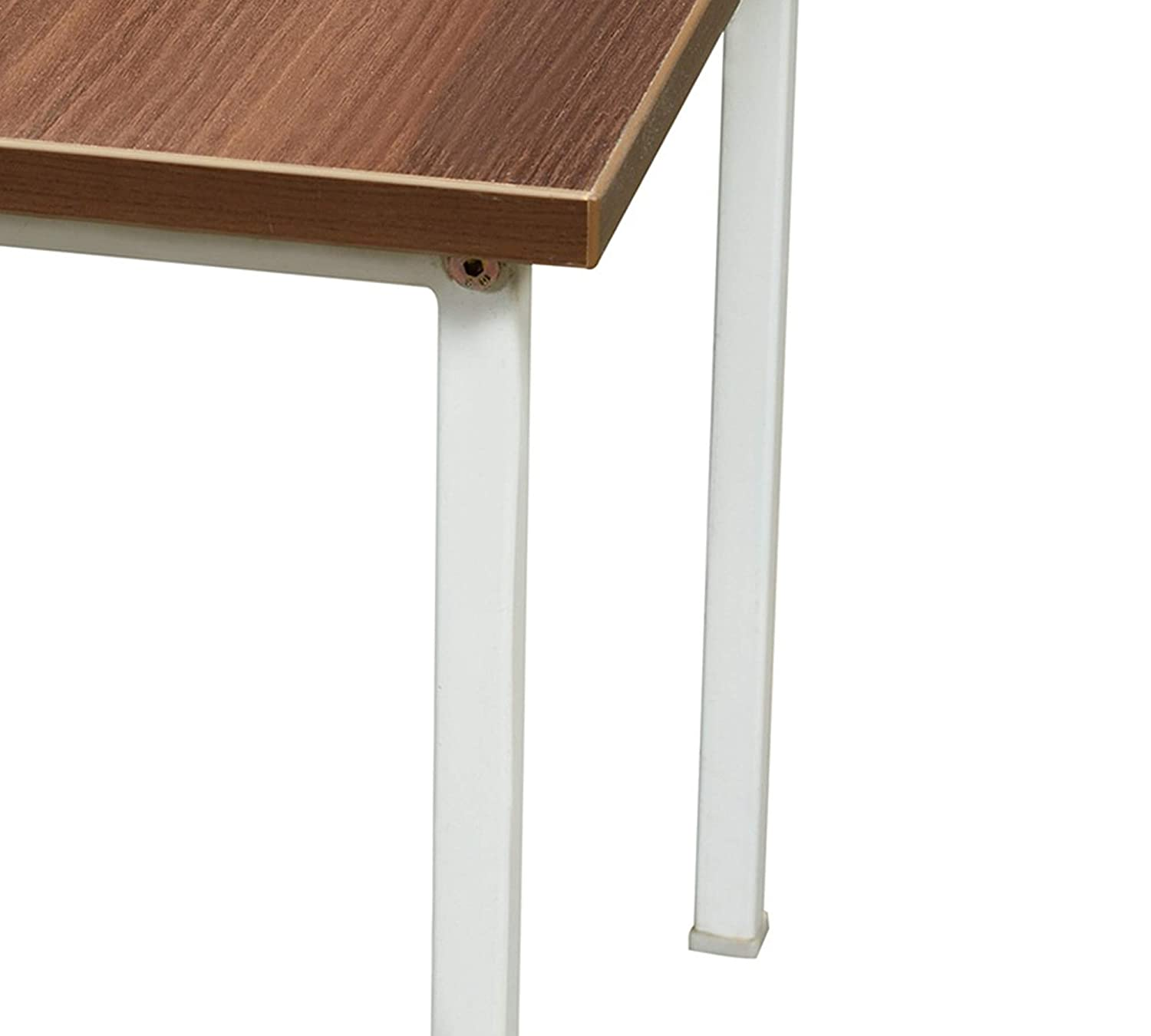 Lakdi Side Table with Wooden Top and Metal Legs