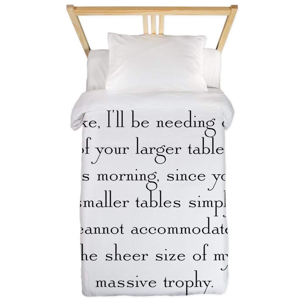 CafePress Massive Trophy Twin Duvet Twin Duvet Cover, Printed Comforter Cover, Unique Bedding, Microfiber