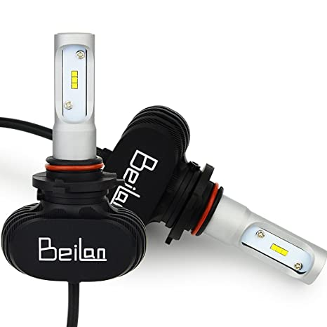 BeiLan HB3 9005 Bombilla LED Faro Delantero del Coche Lámparas Luces LED 25W 4000LM 6500K Brillante