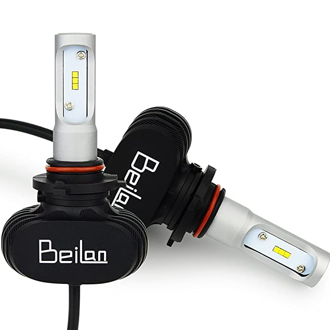 145 opinioni per BeiLan HB3 9005 LED Lampadine Fari Anteriori per auto 25W 4000LM 6500K Luce