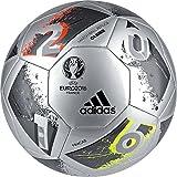 adidas Performance Euro 16 Glider Soccer Ball, Silver Metallic Grey/Night Metallic/Matte Silver/Dark Grey, Size 4