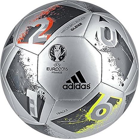 adidas Performance Euro 16 Glider - Balón de fútbol, Color Silver ...