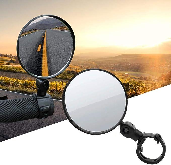 360 Grad drehbarer Fahrradr/ückspiegel Fahrrad Flexibler Sicherheits-Seitenspiegel f/ür eBike Road MTB Cycling Reflective Mirror