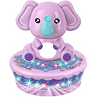 Kiddale Electric Rotating Elephant Toy with 3D Light and Music, Baby Musical Cartoon Toy-Purple