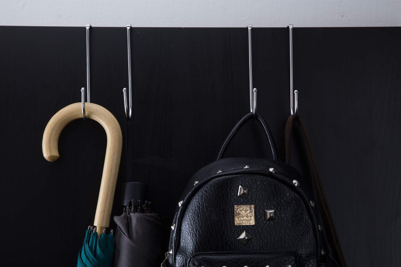 1 Pack Over Door Hook Stainless Steel SUS304 Heavy Adjustable Double Hook,Organizers on The Doors of Cabinets,Shower,Drawer,Wardrobe,Closet,Shoe Cabinet,for Towel,Coat,Robe,Umbrella Holder