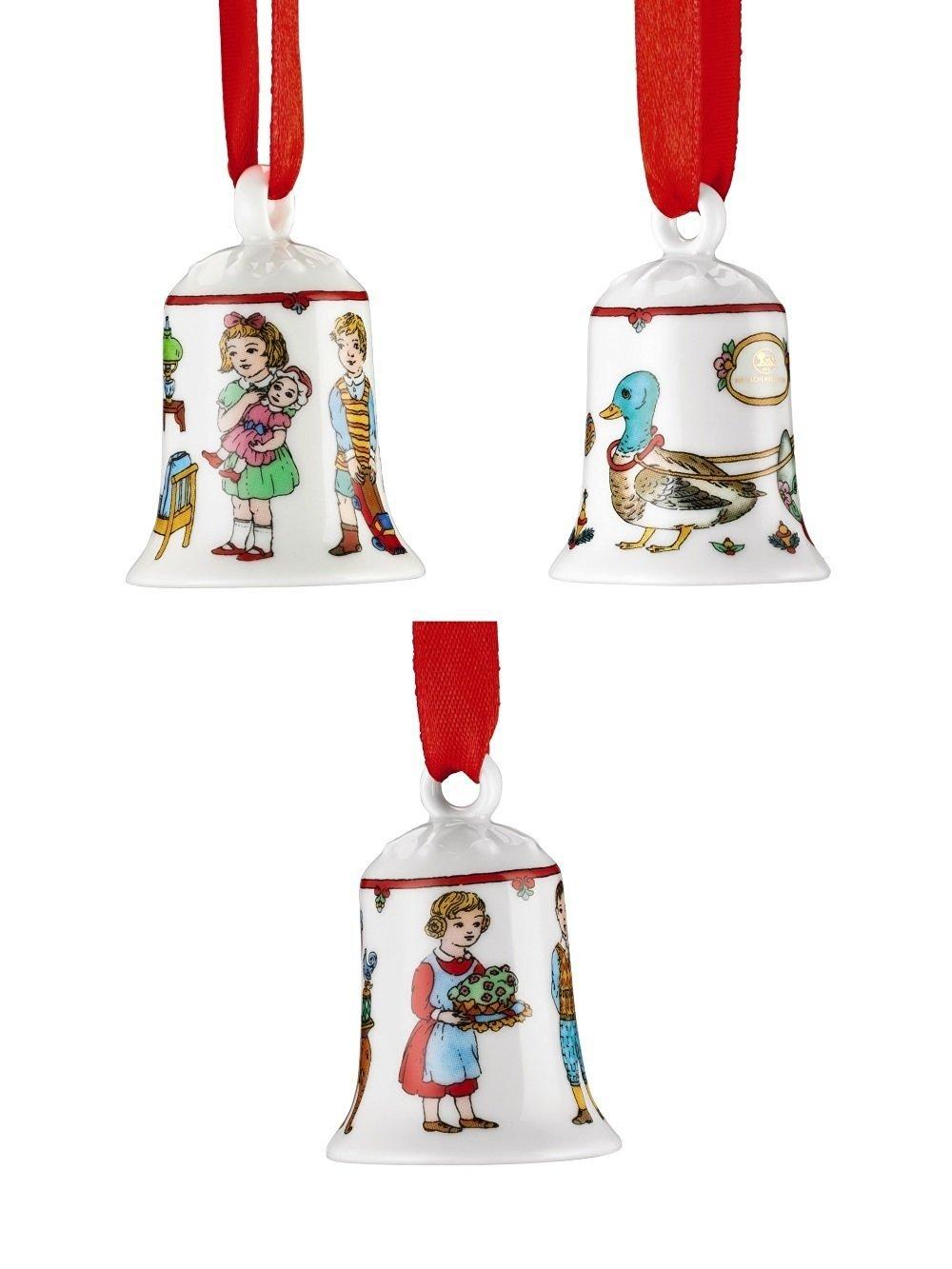 Hutschenreuther - 3 x Mini-Glocke 2016 - 3 Motive - Miniglocke Miniaturglocke Glocke - NEU - OVP