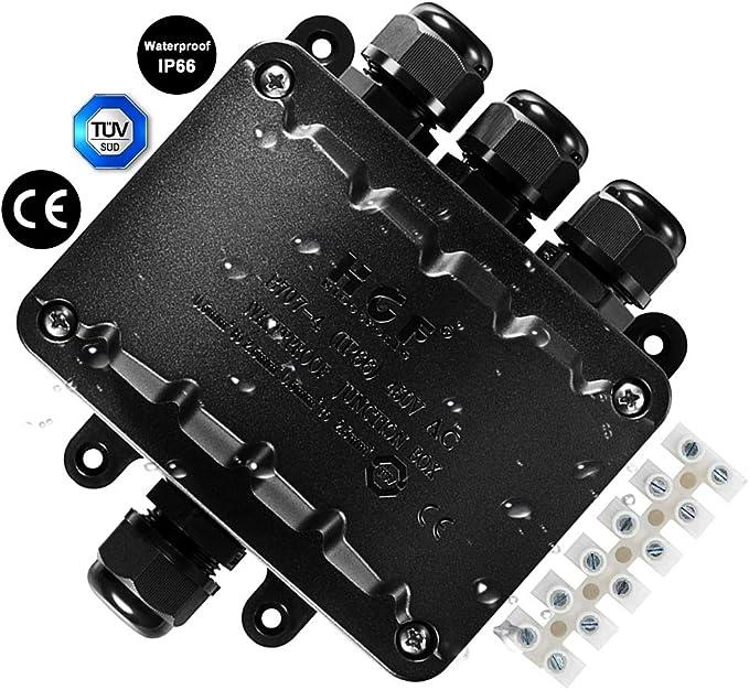 Caja de conexiones de 4 vías, conector de cable impermeable IP66 ...