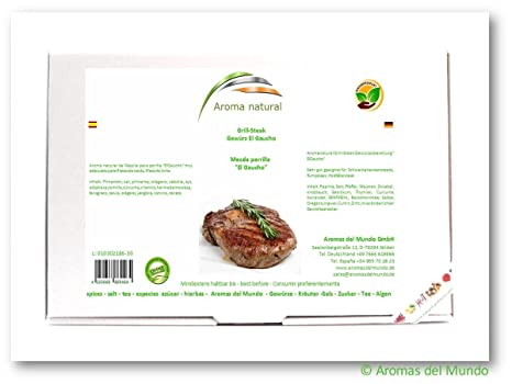 Aroma natural Meczla parrilla el Gaucho 900 g: Amazon.es ...