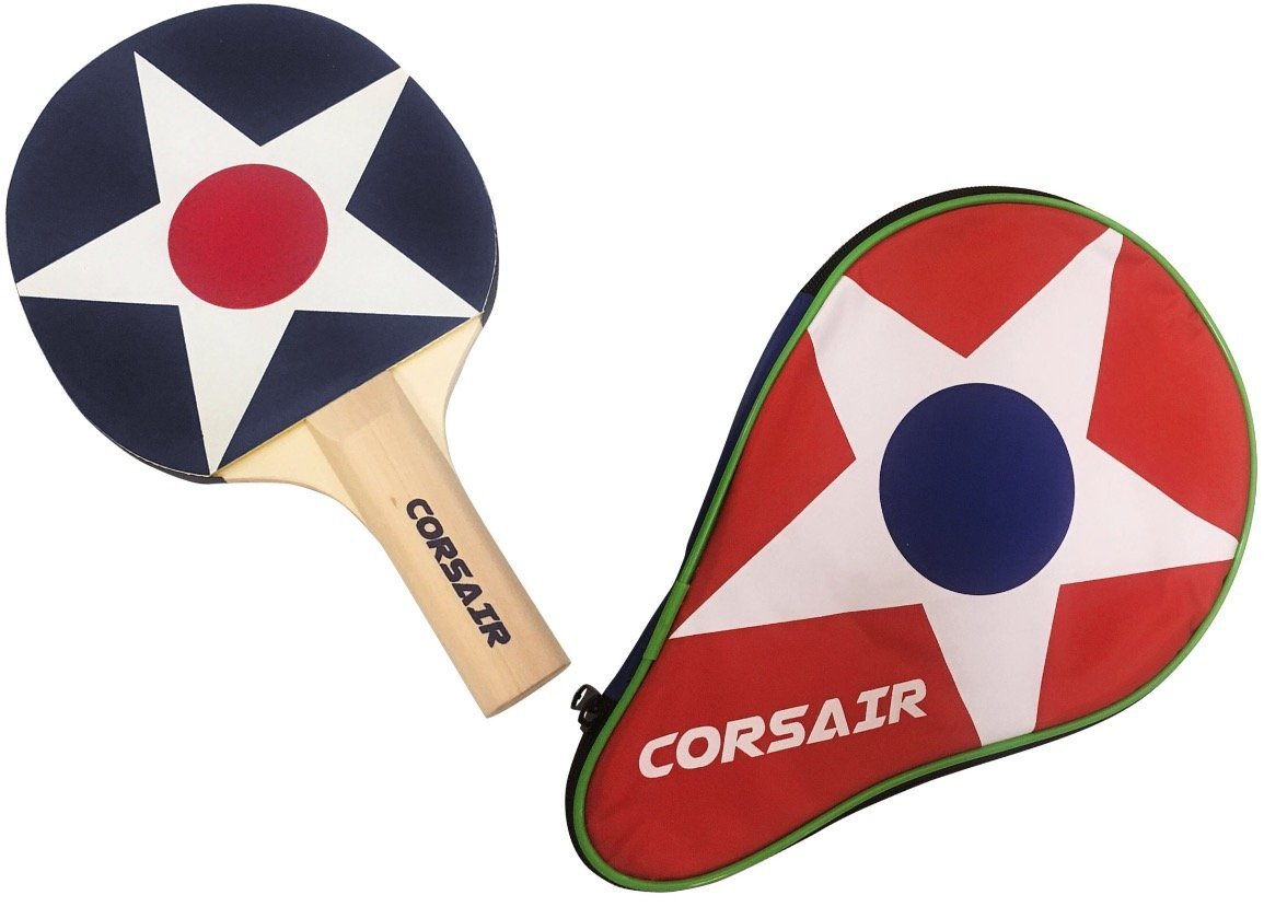 CORSAIR Ping Pong Paddle with Carry Case Feel and Spin. High Performance Single Table Tennis Racket with Top Control