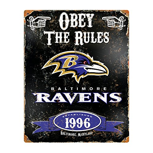 Party Animal NFL Embossed Metal Vintage Baltimore Ravens -