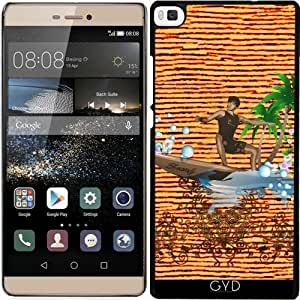 Funda para Huawei Ascend P8 - Surfboarder, Diseño Tropical by nicky2342