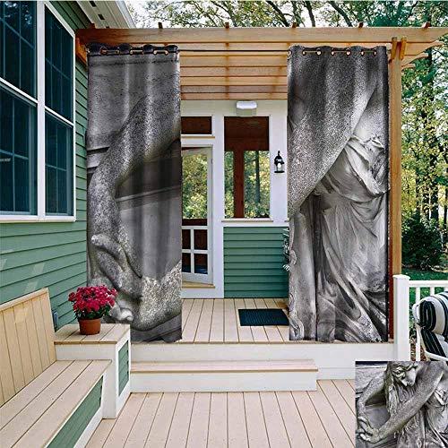 Beihai1Sun Curtains for Bedroom,Sculptures Cemetery in Vienna Italy,Waterproof Patio Door Panel,W108x72L