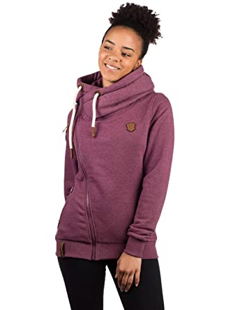 naketano sweatjacke bordeaux melange