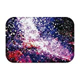 Solar System, Milky Way, Universe Cloud Vortex White Red Orange Blue Large Door Mat, Indoor And Outdoor Entrance Carpet Mat Shoe Scraper Door Mat For Entrance, Garage, Patio, High Traffic Area