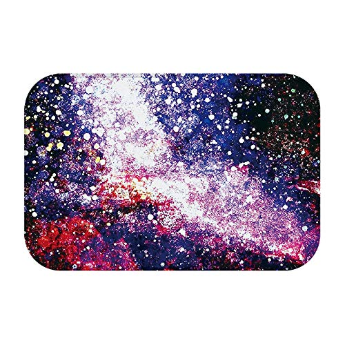 Solar System, Milky Way, Universe Cloud Vortex White Red Orange Blue Large Door Mat, Indoor And Outdoor Entrance Carpet Mat Shoe Scraper Door Mat For Entrance, Garage, Patio, High Traffic Area by JANNINSE