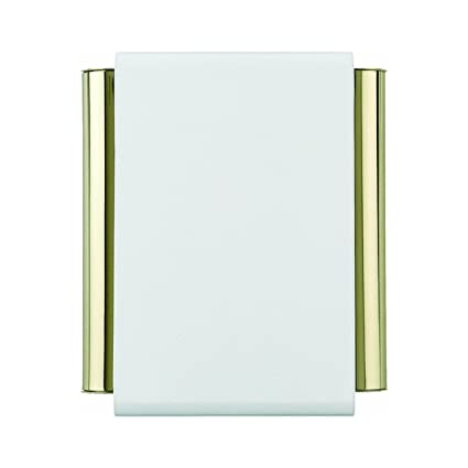 Carlon Lamson U0026 Sessons DH504 7 1/2u0026quot; White And Gold Wired Door Chime