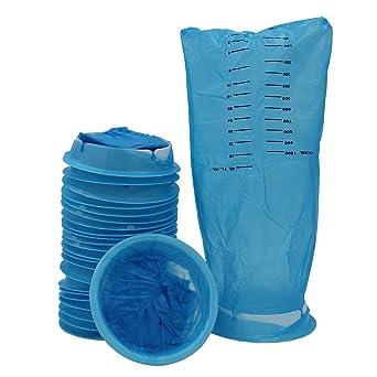 emesis bolsas desechables de residuos Bolsa de vomitar azul ...