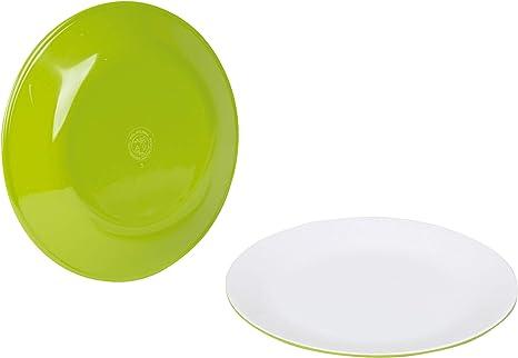 Moritz - Vajilla de melamina para camping, 25,7 cm, color lima ...