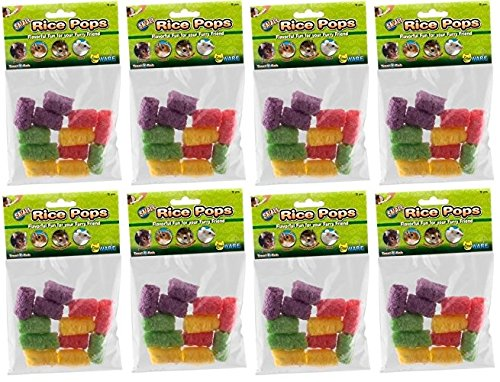 Ware Manufacturing 8 Pack Of Small Rice Pops Small Animal Treats (Each Pack Contains 12 Treats / 96 Treats Total) by Ware Manufacturing