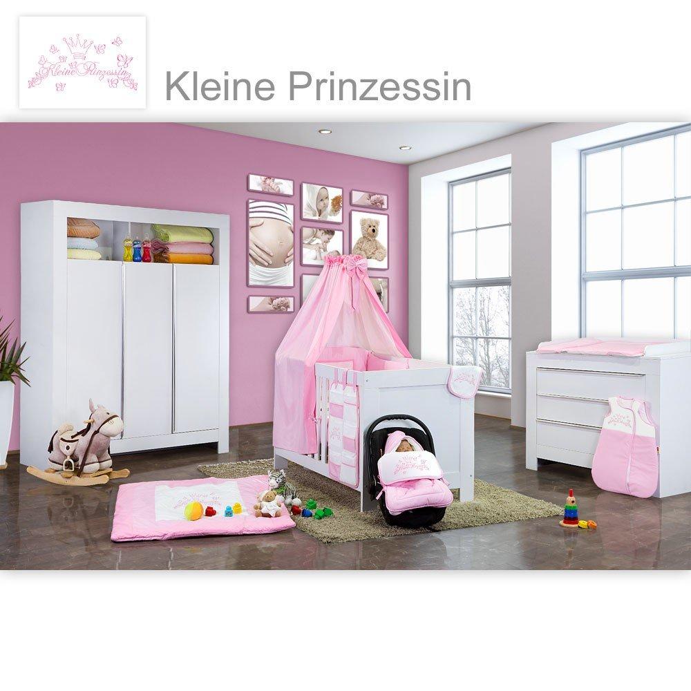Babyzimmer Felix in weiss 21 tlg. mit 3 türigem Kl + Kleine Prinzessin in Rosa