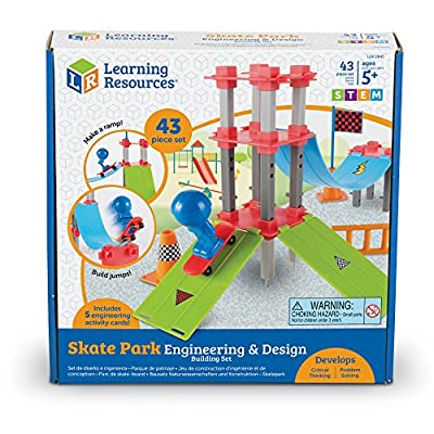 Learning Resources Skate Park Engineering & Design Building Set, 43 Pieces: Toys & Games
