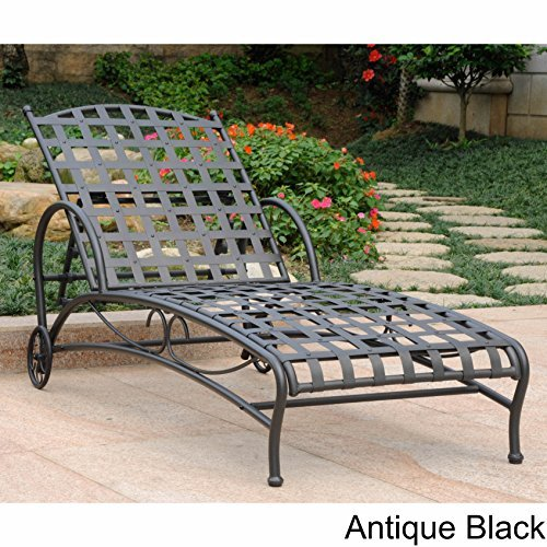 International Caravan Iron Multi-Position Patio Chaise Lounge ()