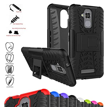Zenfone 3 Max ZC520TL Case,Mama Mouth Shockproof Heavy Duty Combo Hybrid Rugged Dual Layer Grip Cover with Kickstand for ASUS Zenfone 3 Max ...