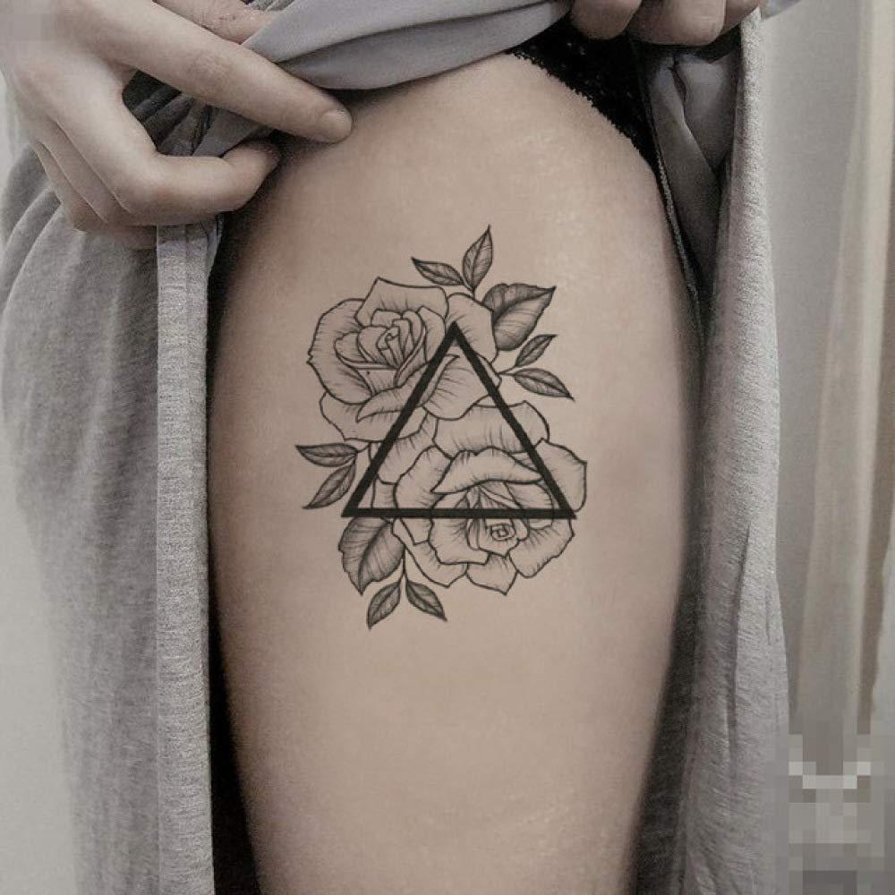 tzxdbh Triángulo de Las Flores Etiqueta engomada del Tatuaje ...