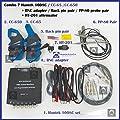 _BMT_ Combo 7 of Hantek 1008C Auto USB oscilloscope + 2 pcs PP80 Probe + 1 set CC650 + 1 set CC65 Current Clamp + 1pcs HT201 Attenuator + 1 pc BNCtoDMM adapter + 1 pair Back Pin (Win 10 compatible)