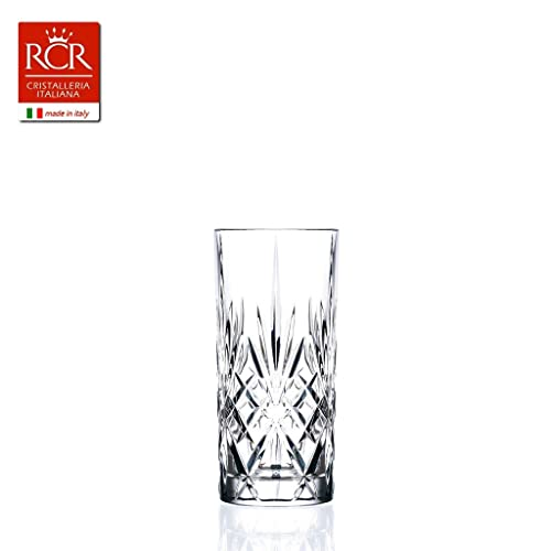 RCR Crystal Melodia Highball Glasses, Set of 6 (Pack of 1 x 6)