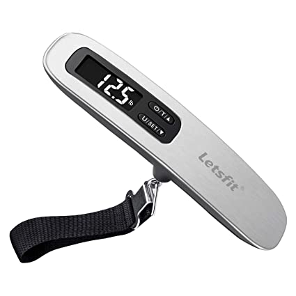 3277072e604d Letsfit Digital Luggage Scale, 110lbs Hanging Baggage Scale with Backlit  LCD Display, Portable Suitcase Weighing Scale, Travel Luggage Weight Scale  ...