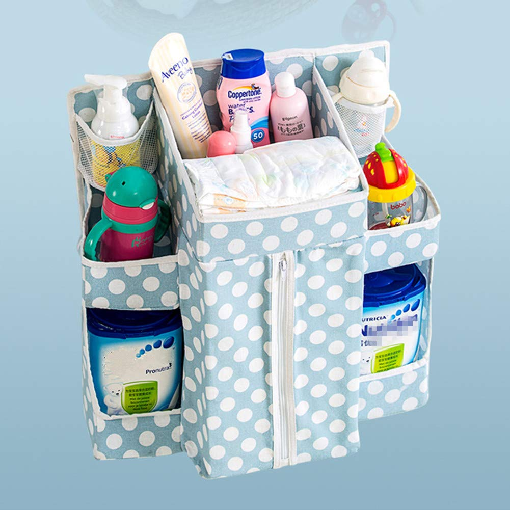Blu Sunzit Baby Nursery Organizer Multifunzione da Comodino da Appendere Borsa Presepe Immagazzinaggio Pannolino Organizzatore