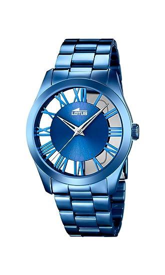 80acdb2e8918 Lotus Reloj Analógico para Mujer de Cuarzo con Correa en Acero Inoxidable  18252 1  Amazon.es  Relojes