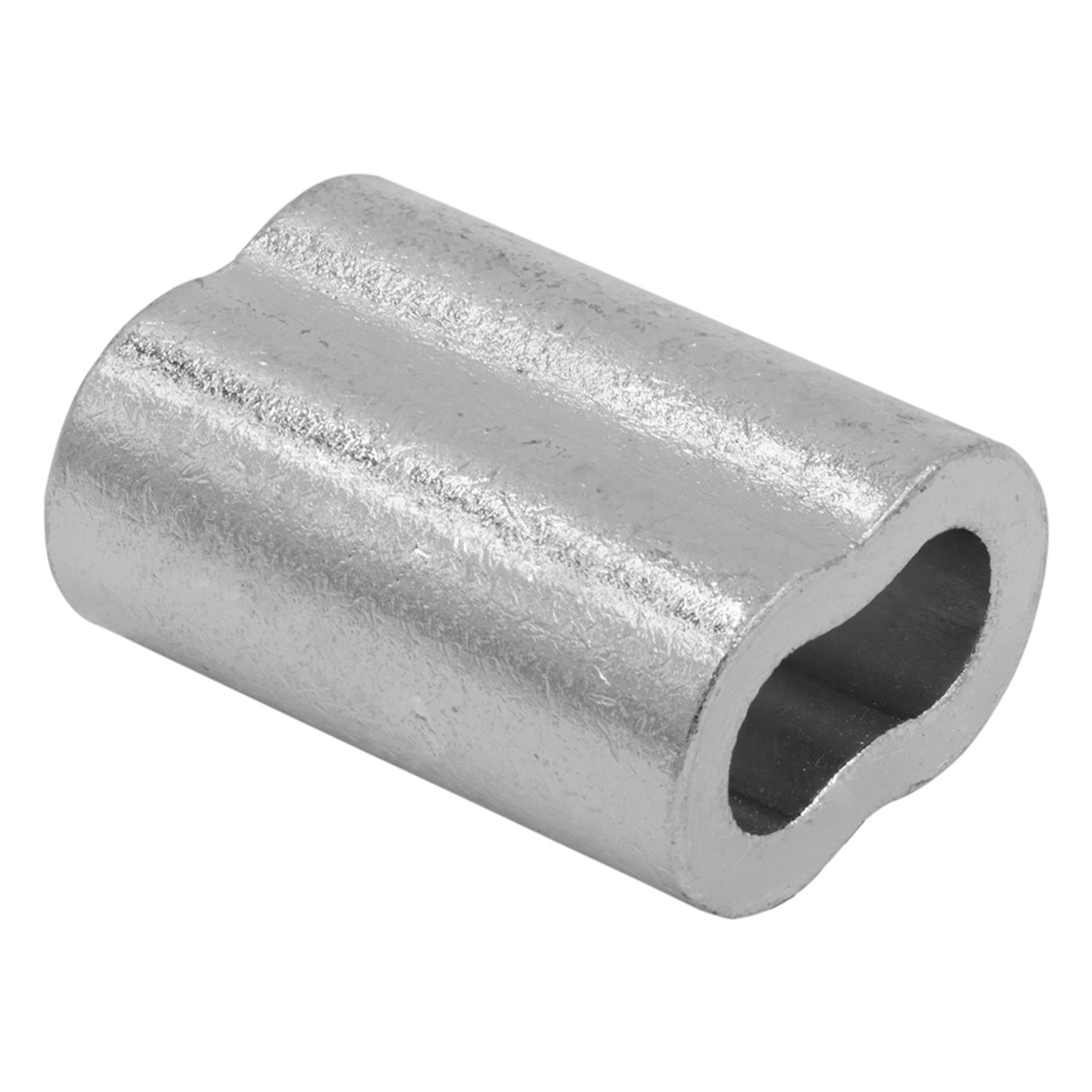 SwageRight Zinc Plated Copper Swage Sleeves & Ferrules | Oval Duplex Crimping Wire Rope Fittings