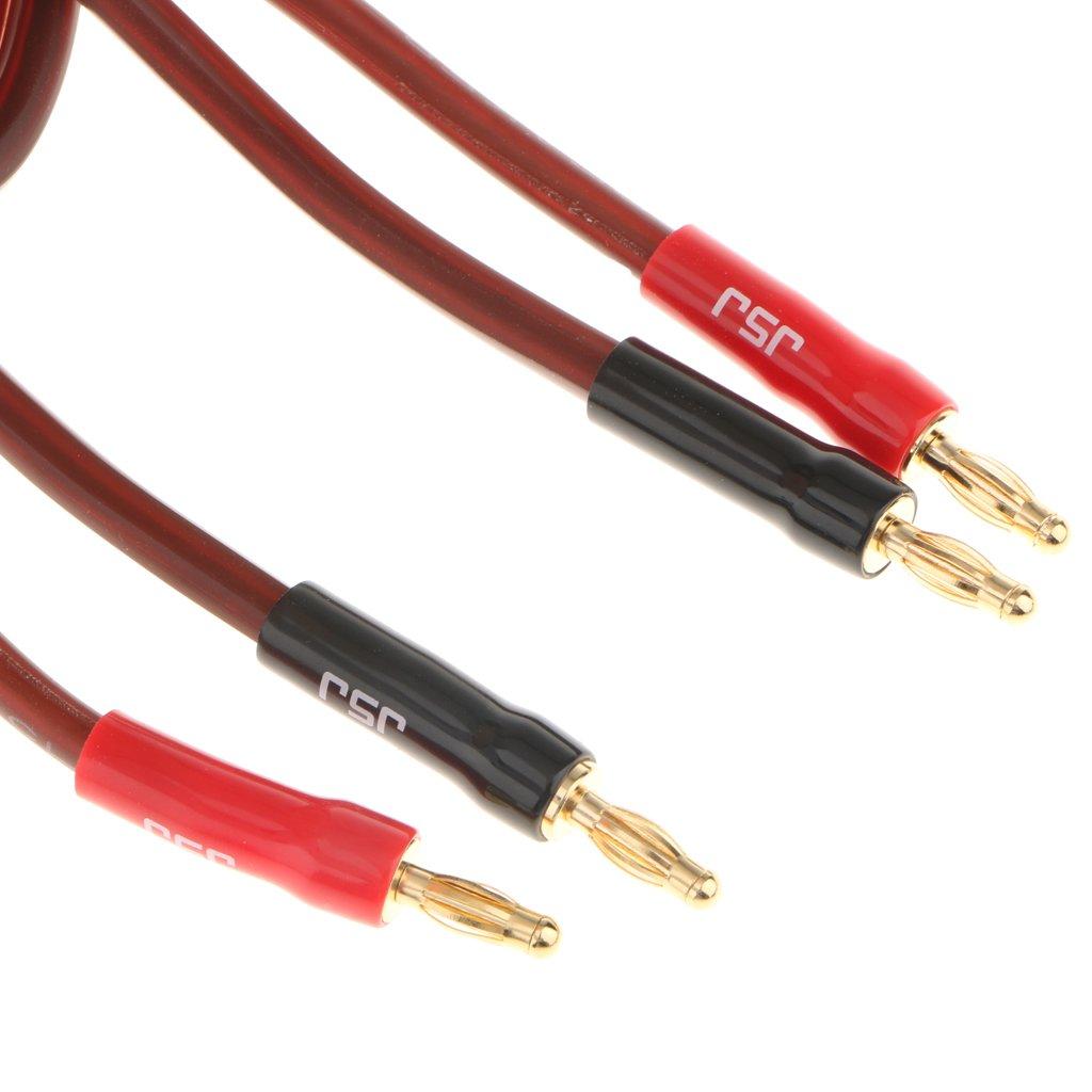 MagiDeal Cable de Audio de Altavoz de Cobre Cable de Audio Enchufe Macho de 2 Machos A 2 Machos Herramientas: Amazon.es: Electrónica
