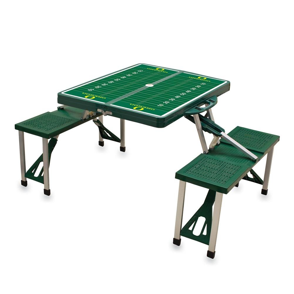 NCAA University of Oregon Ducks Digital Print Picnic Table Sport, Green, One Size