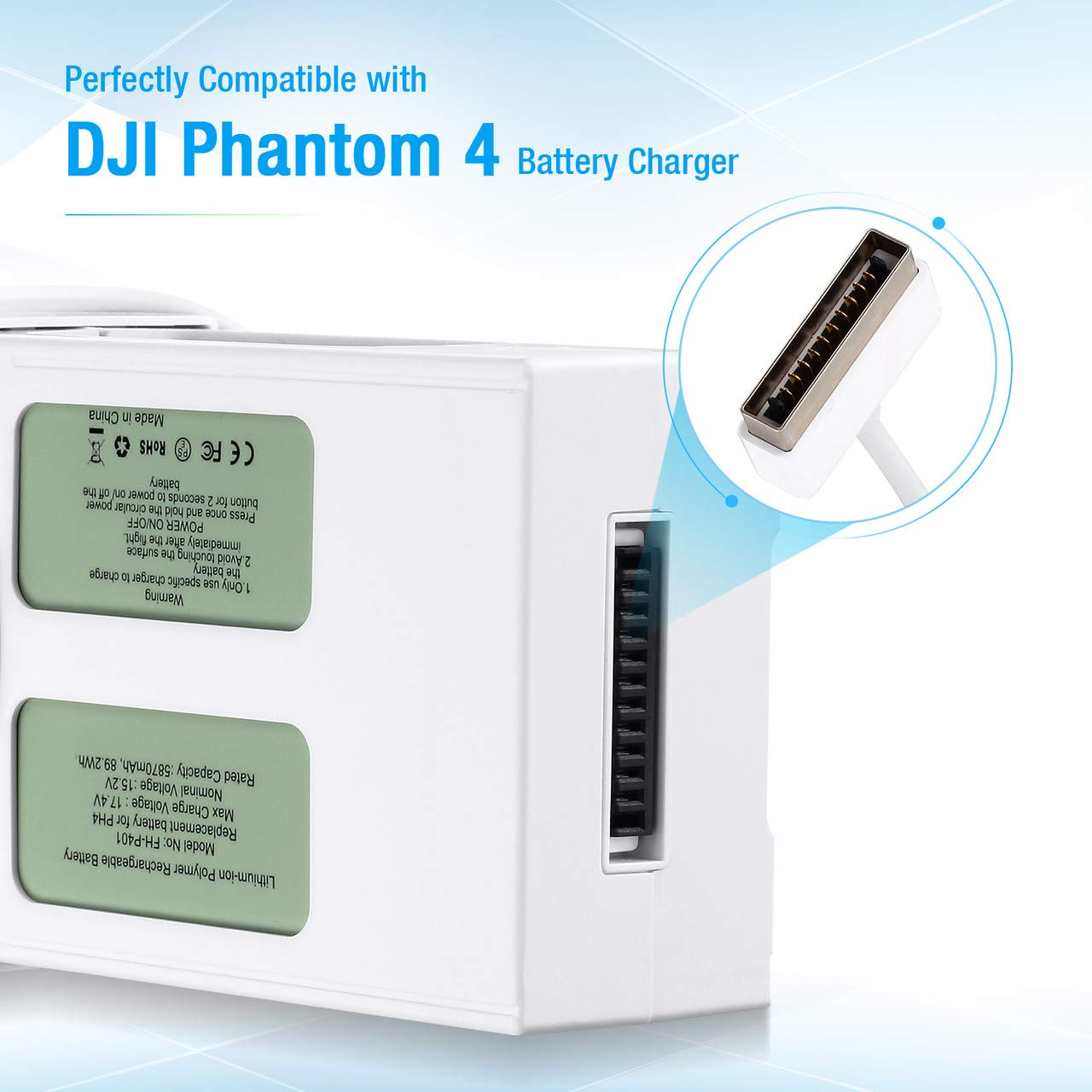 Powerextra High Capacity Phantom 4 Series (15.2V 5870 mAh) LiPo Flight Battery + Battery Safe Bag Replacement for DJI Phantom 4, Phantom 4 Pro, Phantom 4 Pro V2.0, Phantom 4 Advanced Drone - Upgrade by Powerextra (Image #3)