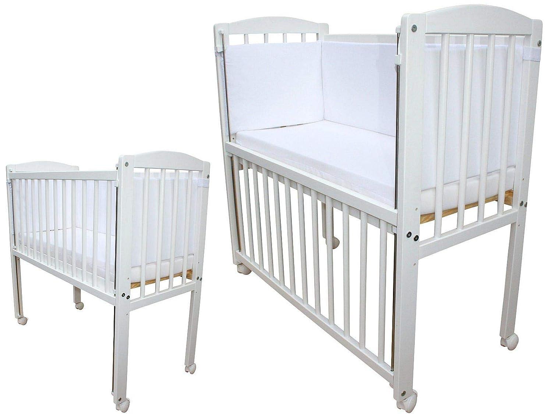 Babybett  Kinderbett Juniorbett umbaubar 140x70 Weiß nr 28