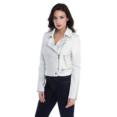 Oakwood Oakwood Oakwood 62326 Blanc Blanc Blanc Femme Et Yoko Cuir Vêtements Blouson FAxSqwPR