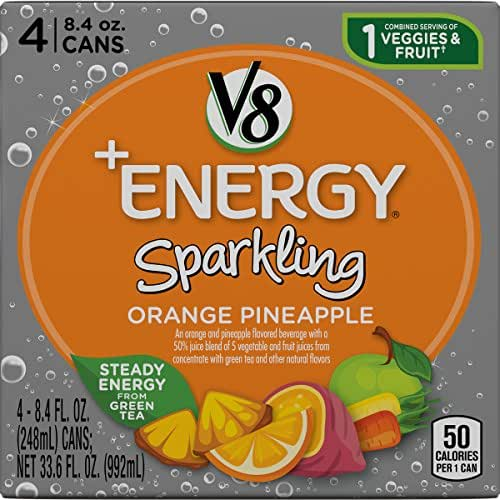 Vegetable Juice: V8 +Energy Sparkling