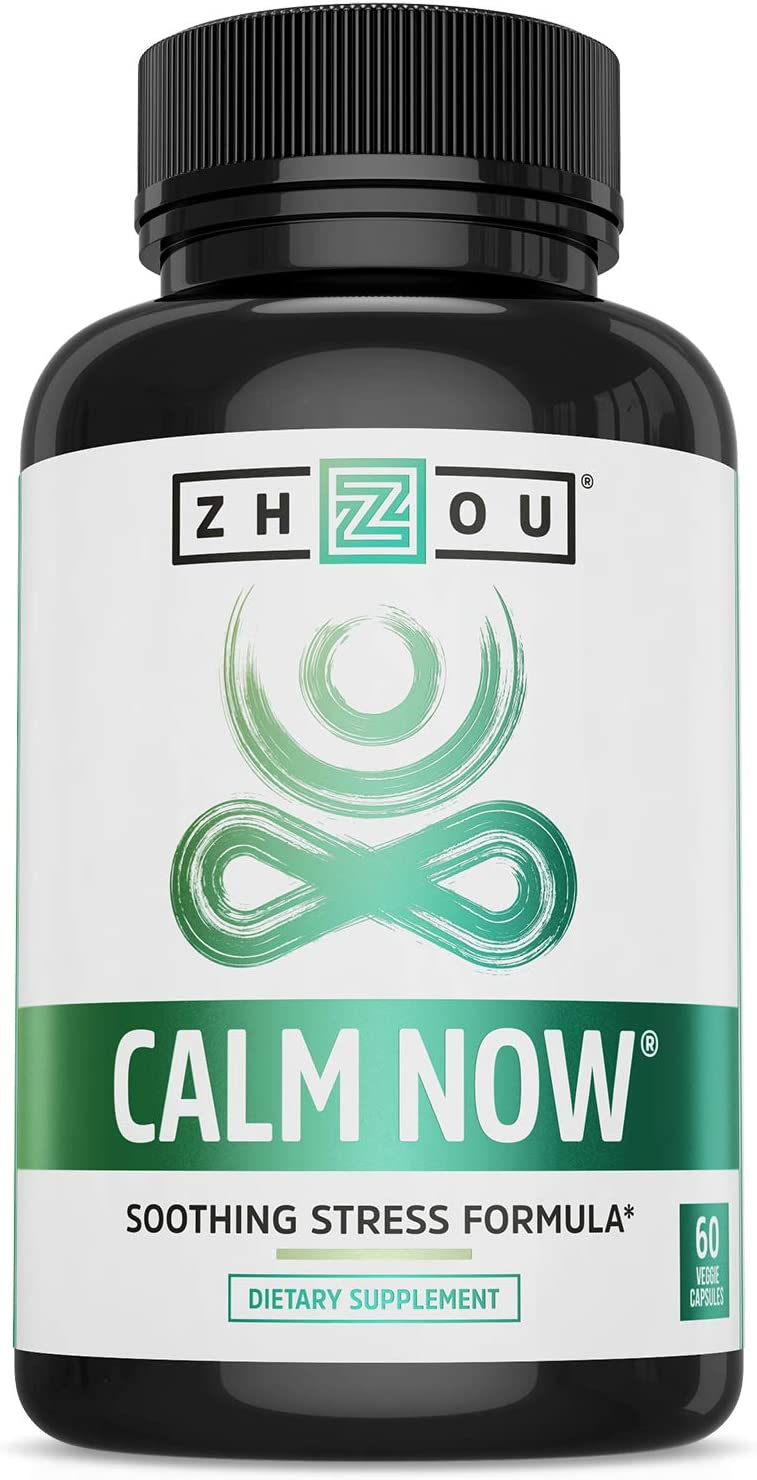 CALM NOW Soothing Stress Support Supplement, Herbal Blend Crafted To Keep Busy Minds Relaxed, Focused & Positive; Supports Serotonin Increase; Hawthorn, Ashwagandha, Rhodiola Rosea, B Vitamins & More: Health & Personal Care