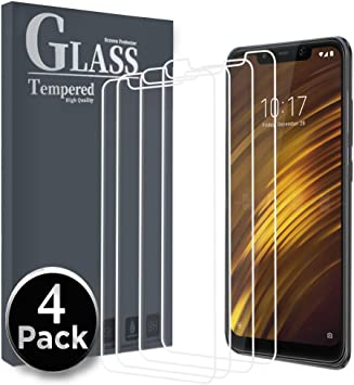 Ferilinso Cristal Templado para Xiaomi Pocophone F1,[4 Pack ...