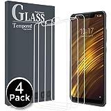 Ferilinso Cristal Templado para Xiaomi Pocophone F1,[4 Pack] Protector de Pantalla Screen Protector con garantía de reemplazo de por Vida