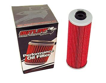 Outlaw Racing orf161 rendimiento del filtro de aceite para ...