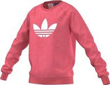 adidas J Tery Crew G - Sudadera para niña, Color Rosa/Blanco, Talla 170: Amazon.es: Deportes y aire libre
