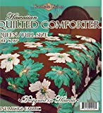 Queen Size Hawaiian Quilted Quilt Bedding Comforter & 2 Pillow Shams