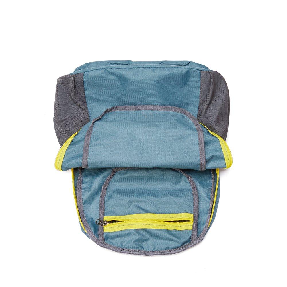 KAUKKO Laptop Outdoor Backpack, Travel Hiking& Camping Rucksack Pack, Casual Large College School Daypack, Shoulder Book Bags Back Fits 15'' Laptop & Tablets (01GREEN) by KAUKKO (Image #4)