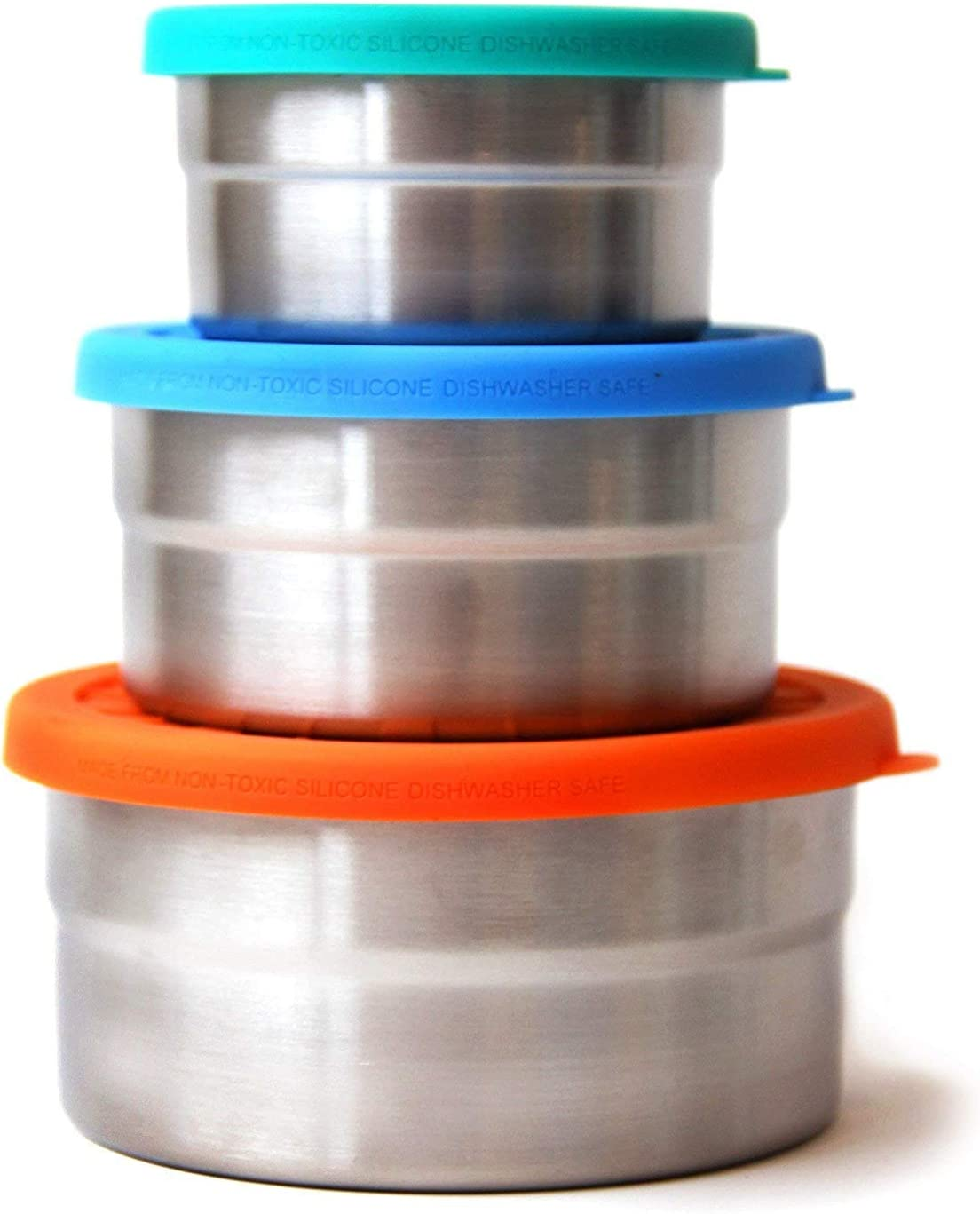 Ecolunchbox Seal Cup Trio 3-Piece Nesting Stainless Steel Leak-Proof Food Storage Containers