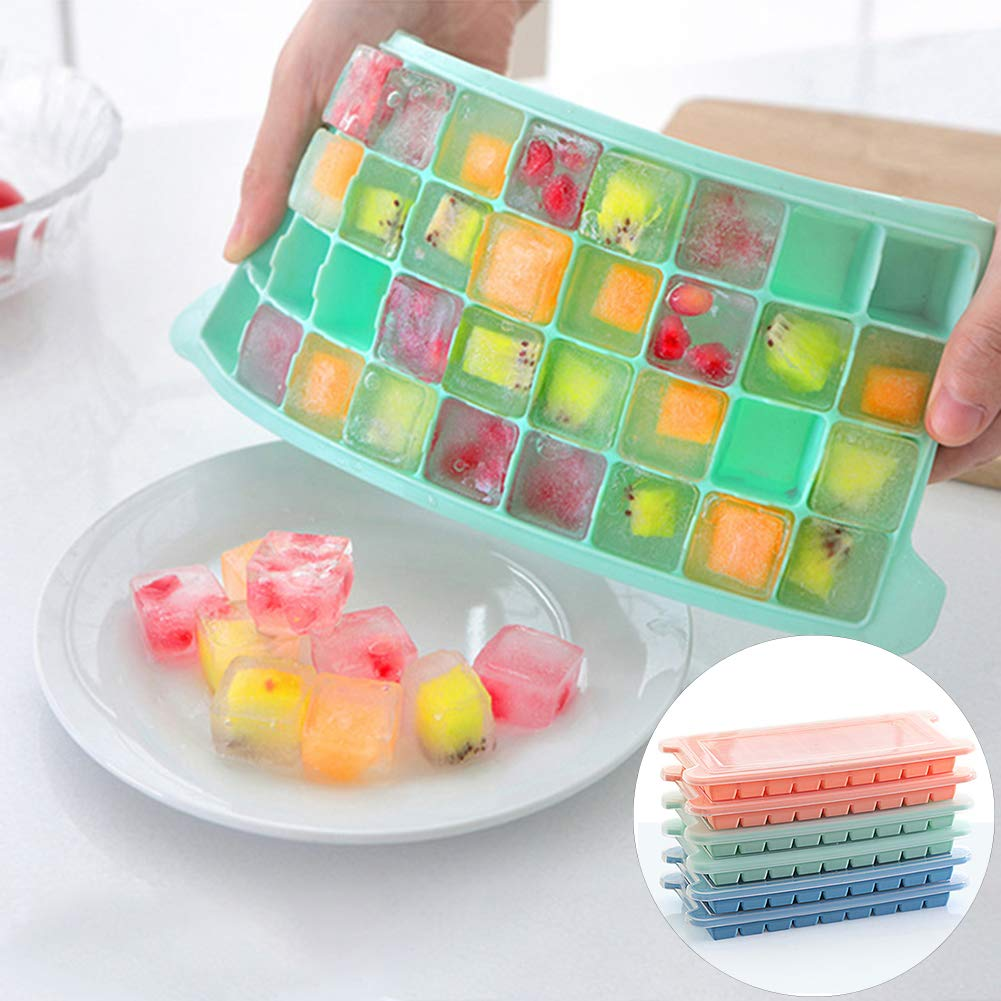 Braceus 24-Grid Summer Silicone Ice Cube Mold Tray Maker Mould ...